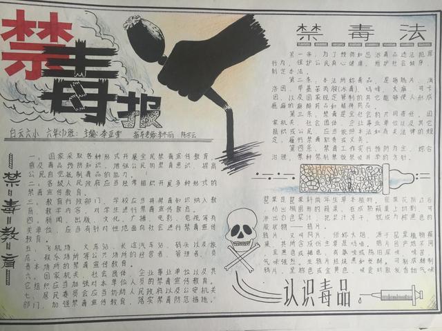 贵阳市举办2016年中小学禁毒征文,手抄报比赛