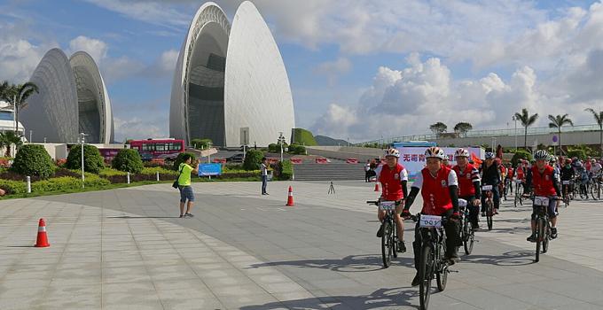 珠海香湾街道60名骑士骑行25公里宣传禁毒